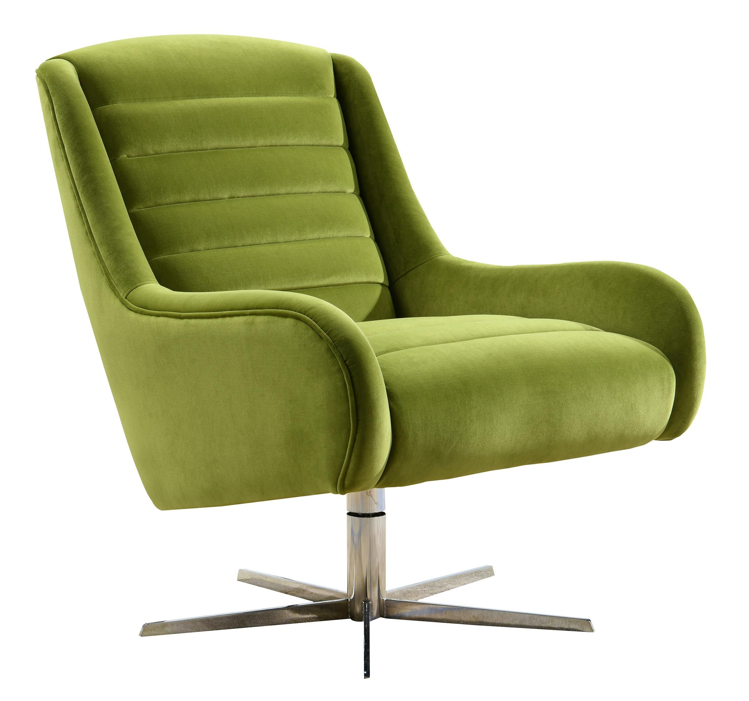 Green Velvet Armchair Vanhoose Swivel Armchair