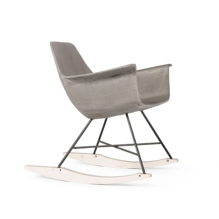 Concrete Rocking Chair Retro Furniture Lyon Beton £ 800.00 Store UK, US, EU, AE,BE,CA,DK,FR,DE,IE,IT,MT,NL,NO,ES,SE