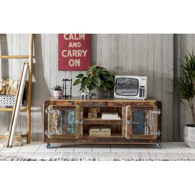 Fridge Recycled Wood Tv Unit