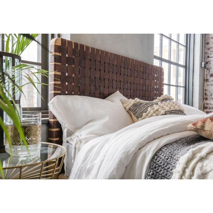King Size Woven Leather Headboard Bedroom £ 492.00 Store UK, US, EU