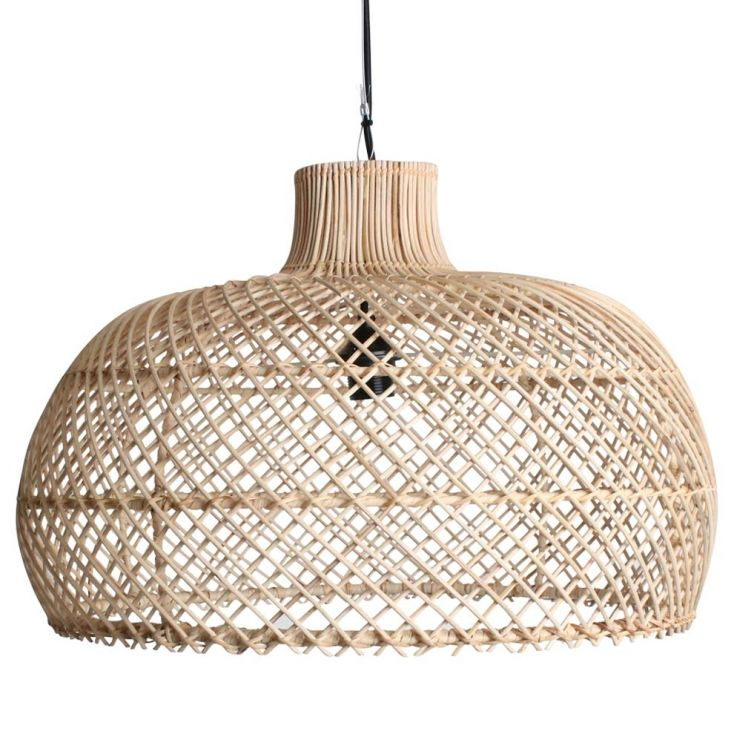 Scandinavian Rattan Pendant Light