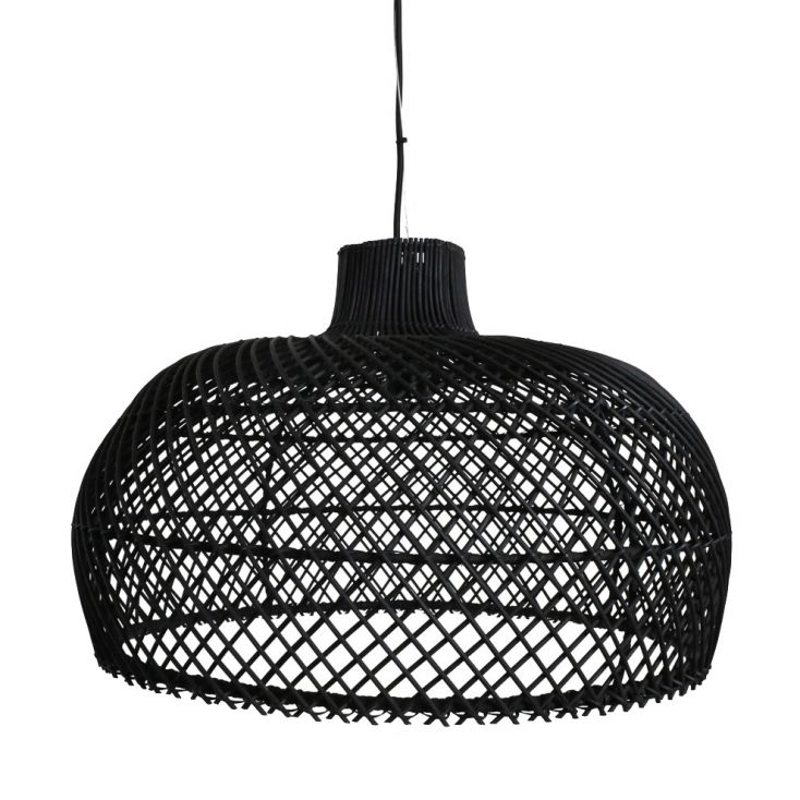 Black Rattan Pendant Light Vintage Lighting £ 195.00 Store UK, US, EU