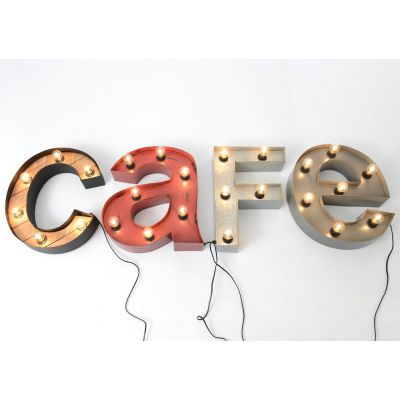 Cafe Sign Vintage Lighting Smithers of Stamford £ 520.00 Store UK, US, EU