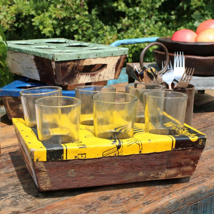 Reclaimed Serving Drinks Tray Tableware Smithers of Stamford £ 35.00 Store UK, US, EU, AE,BE,CA,DK,FR,DE,IE,IT,MT,NL,NO,ES,SE