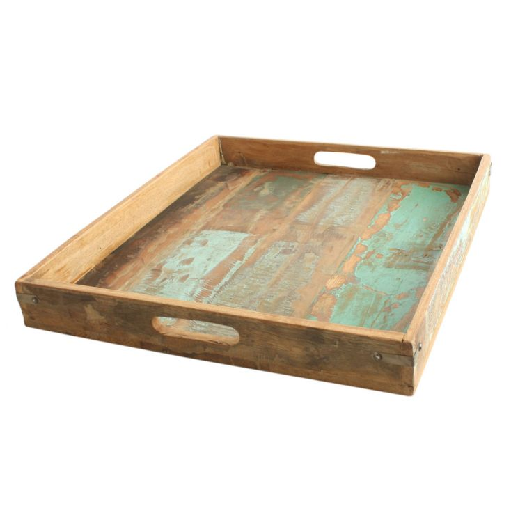 Reclaimed Serving Tray Tableware Smithers of Stamford £ 50.00 Store UK, US, EU, AE,BE,CA,DK,FR,DE,IE,IT,MT,NL,NO,ES,SE