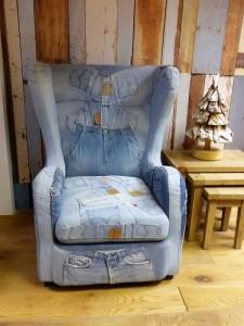 denim armchair