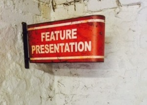 old movie signs