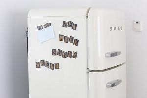vintage letter magnets