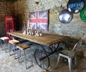 large reclaimed dining table