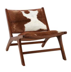 cowhide chair brown